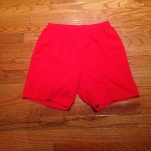 Vintage 70s High Waisted Red Shorts