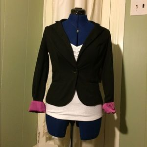 BONGO Jackets & Blazers - FREE w/ purchase! Classy Black Long Sleeve Blazer
