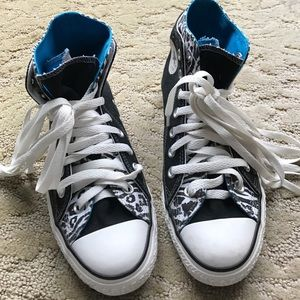 Converse All Star Custom Blue & Zebra Sneakers