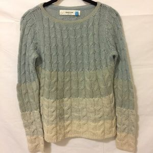 Sparrow Anthropologie Blue Ombré Wool Sweater