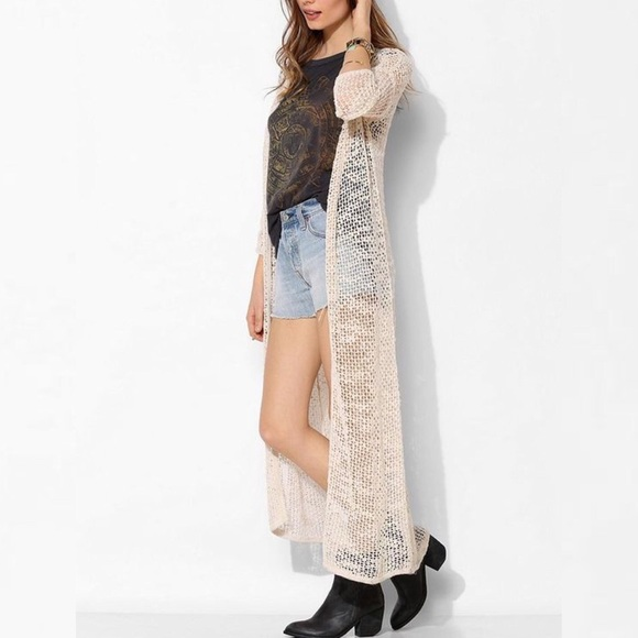 90% off Urban Outfitters Sweaters - Long knit duster sweater from ...
