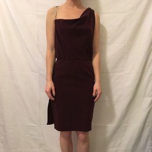 Alice + Olivia Dresses & Skirts - Alice + Olivia Deep Red Jeweled Strap Party Dress
