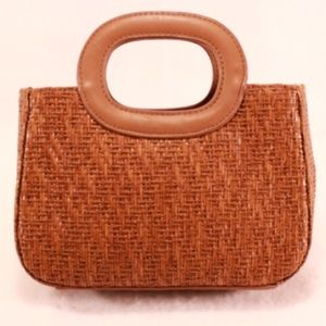 Fossil Handbags - Fossil Brown Woven Mini Tote