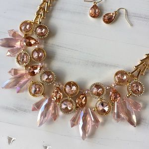 Stunning Pink Diamond Statement Necklace