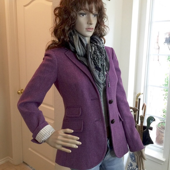 59% off J. Crew Jackets & Blazers - Jcrew Purple Wool Tweed ...
