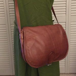Wilsons Leather Handbags - Wilsons Leather Brown Messenger Bag