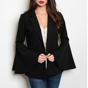 Bchic Jackets & Blazers - 5⭐️ Rated Bell Sleeve Black Blazer