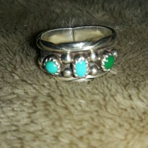 Flash sale! turquoise sterling ring sz7 Navajo WOW