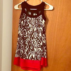 Black red white tunic :)