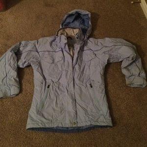 Columbia ladies size small hooded ski jacket