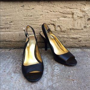 Banana Republic open toed black heels