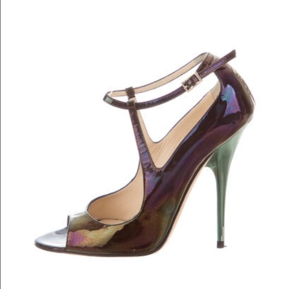 outlet Manchester Jimmy Choo Iridescent Ankle Strap Sandals top quality cheap online KxpKf2JArS