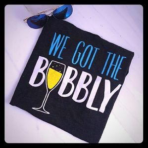 Tops - Sale! We Got the Bubbly Bridal Shower Tank