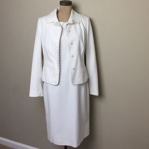 Etcetera Dresses & Skirts - Gorgeous Etcetera winter white wool dress/jacket
