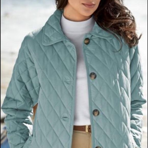 4499e21f246 Jackets   Blazers - NWOT Quilted Car Coat Larkspur Blue Medium
