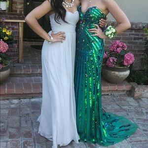 Angela & Alison Dresses & Skirts - Strapless Sequin Mermaid Prom Dress