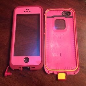 Lifeproof iPhone 5s case magenta /pink