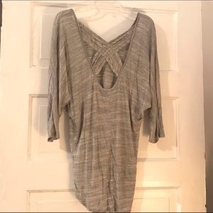 Charlotte Russe Tops - Gray 3/4 sleeve slouchy top