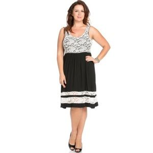 The Blossom Apparel Dresses & Skirts - PLUS Lace-Layered Jersey Dress