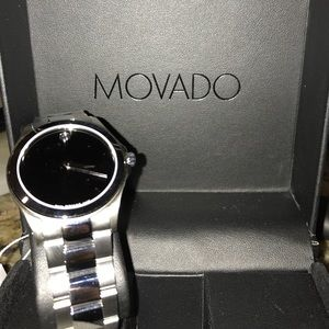 Men's Swiss Serio stainless steel movado watch