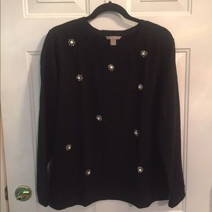 Banana Republic Knit Shirt with Bead Detail