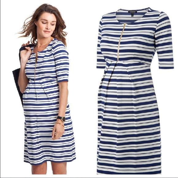 5dfcba9ae6404 Isabella Oliver Dresses & Skirts - Isabella Oliver Beaumont Stripe Maternity  Dress