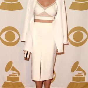 AX Paris Dresses & Skirts - 😍 Front slit pencil skirt in cream khaki