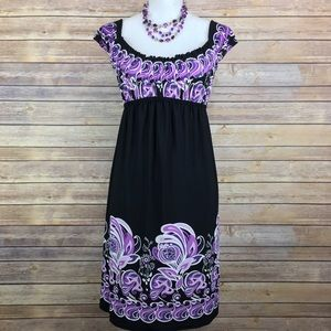 Muse Dresses & Skirts - Muse purple and black flower dress