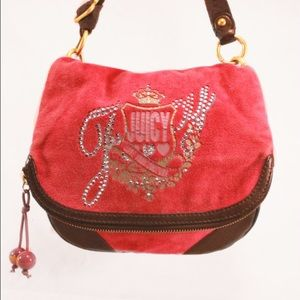 Juicy Couture Handbags - JUICY COUTURE Velour Fuchsia Bag