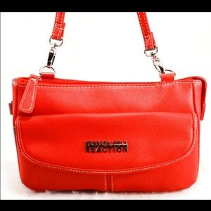Kenneth Cole Reaction Handbags - KENNETH COLE REACTION Red Saffiano Style Purse