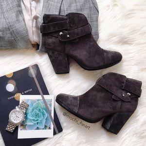 rag & bone Shoes - Rag & Bone 'Harrow' dark gray suede booties