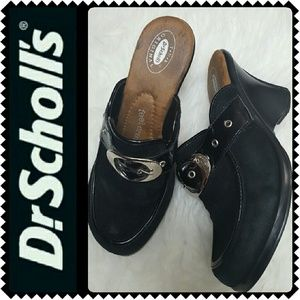 Dr. Scholl's Shoes - Dr. Scholl's Leather Wedge Mules