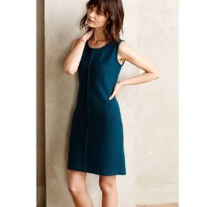 Anthropologie Sparrow Wool Shift Dress in Teal