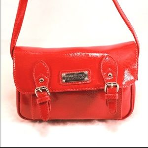 Kenneth Cole Reaction Handbags - KENNETH COLE REACTION Red Patent Style Swing Bag