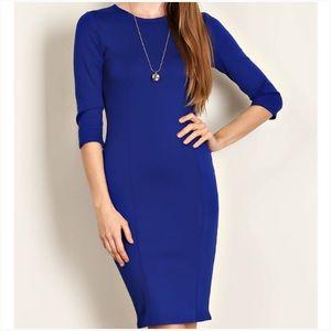 Dresses & Skirts - Sale! Body Con Royal Blue Knit Dress 💙💙💙