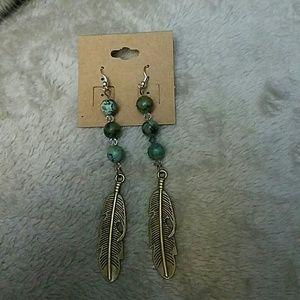 Boho Gypsy Sisters Jewelry - Turquoise beaded earrings