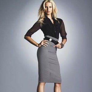 Venus Dresses & Skirts - VENUS GRAY PENCIL SKIRT 2