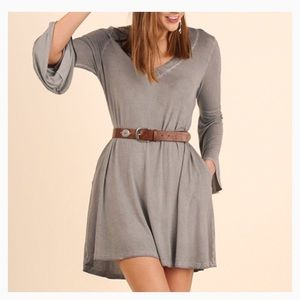 Dresses & Skirts - Sale! Garment Dyed Knit DressBell Sleeves!