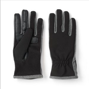 New Isotoner Smart Touch Tech Gloves Black Grey