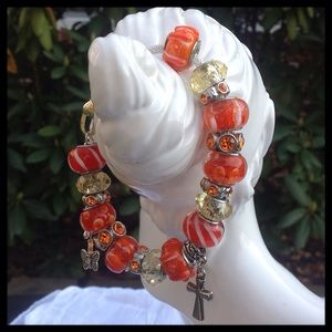 Jewelry - Orange Beaded Bracelet
