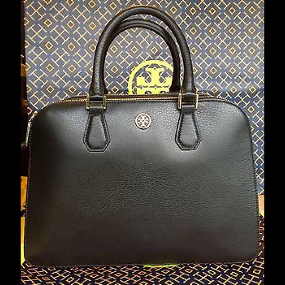 52d52b68c5d0 NEW Tory Burch LANDON TRIPLE ZIP SATCHEL