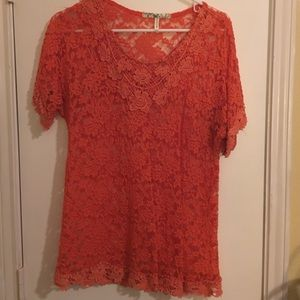 IRE orange lace overlay XL