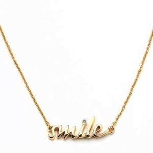 NWT Tags Kate Spade SMILE necklace
