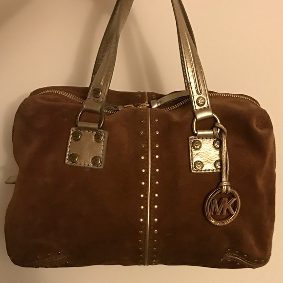 67014b57e53d Michael Kors Bags | Vintage Brown Suede Astor | Poshmark