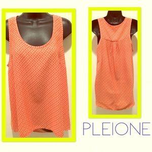 BNWOT PLEIONE NORDSTROM orange design blouse top