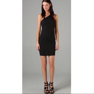 T Alexander Wang one shoulder zipper dress size S