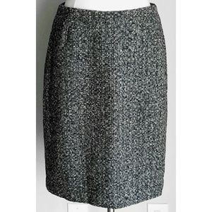 Eddie Bauer Dresses & Skirts - Eddie Bauer Black Ivory Boucle Tweed Pencil Skirt