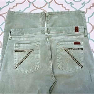 7 For All Mankind Pants - 💙👖Awesome 7 FAM Cords!!!👖💙 30 9/10 Sea Green