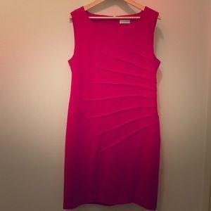 red CK dress