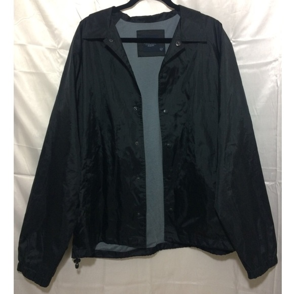 44% off American Apparel Jackets & Blazers - Black Collared Button ...